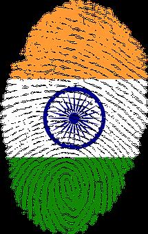Indian Flag themed fingerprint