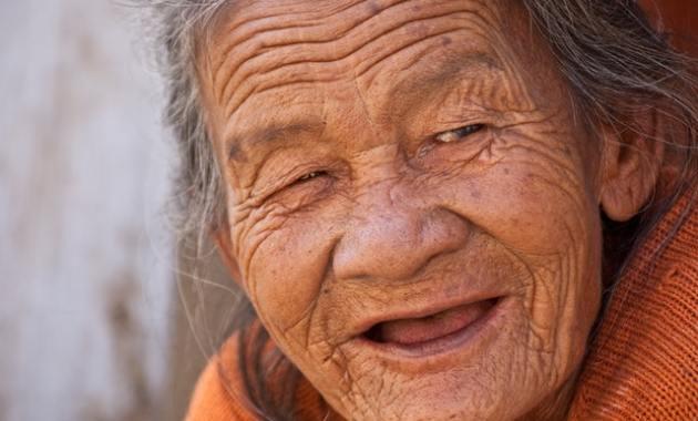 grandma makes faces