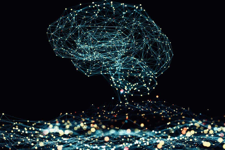 image showing brain in the form of a network of nodes