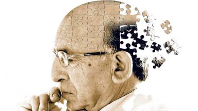 image depicting neurodegeneration as losing pieces of a puzzle