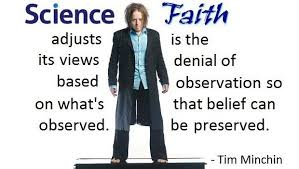 image showing the difference between science and faith